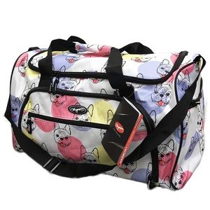 Handbags - French bulldog weekender overnight duffel bag dog